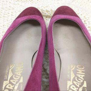 Salvatore Ferragamo Shoes - Salvatore Ferragamo Vintage Suede Pumps 6.5